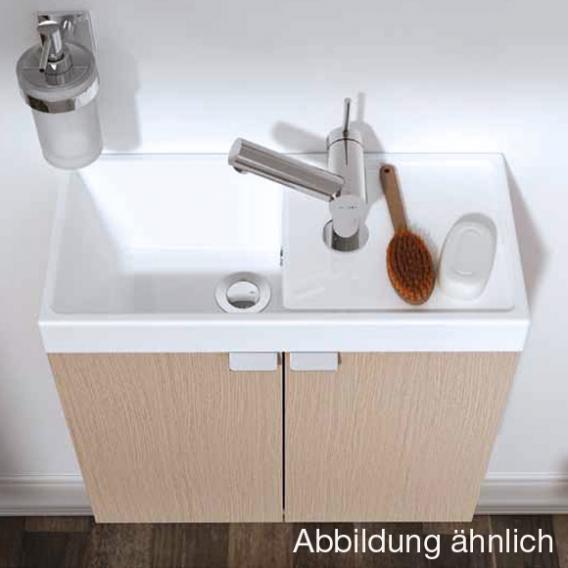 Cosmic b-box Handwaschbecken mit Waschtischunterschrank mit 2 Türen Front esche / Korpus esche