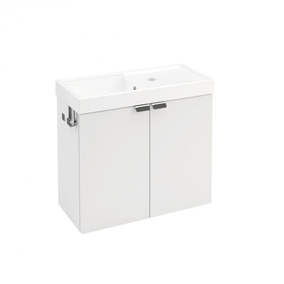 Cosmic b-box Handwaschbecken mit Waschtischunterschrank mit 2 Türen Front weiß matt / Korpus weiß matt