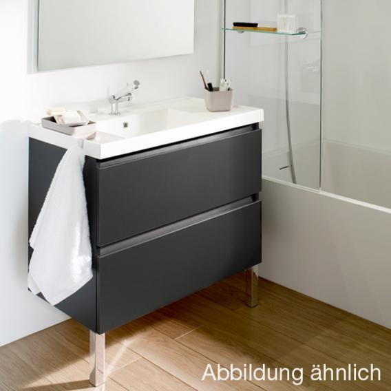 Cosmic b-box Waschtisch eckig mit Waschtischunterschrank mit 2 Auszügen Front weiß matt / Korpus weiß glanz