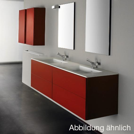 Cosmic Block Waschtisch mit Waschtischunterschrank mit 4 Auszügen weiß matt