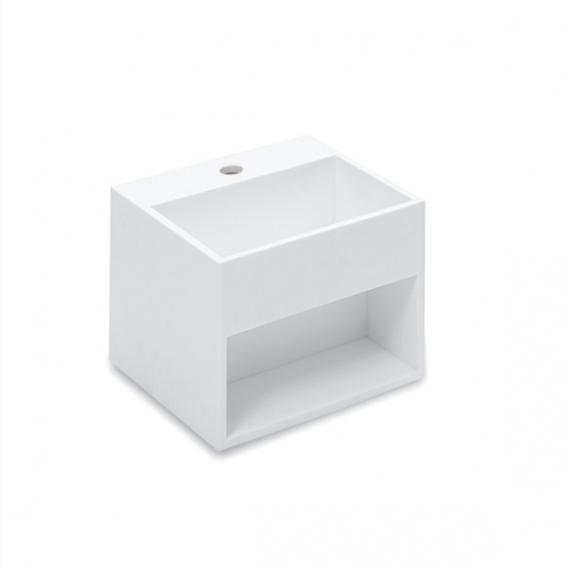 Cosmic Compact Waschbecken mit Ablagefach weiß, mit 1 Hahnloch