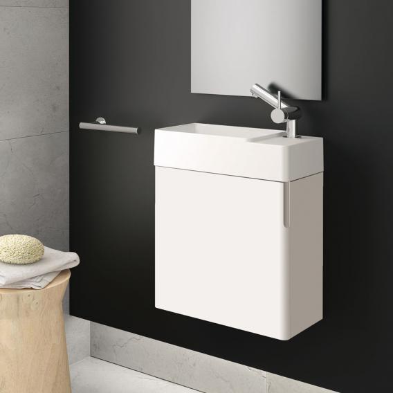 Cosmic fancy Handwaschbecken mit Waschtischunterschrank mit 1 Tür weiß matt, weiß matt