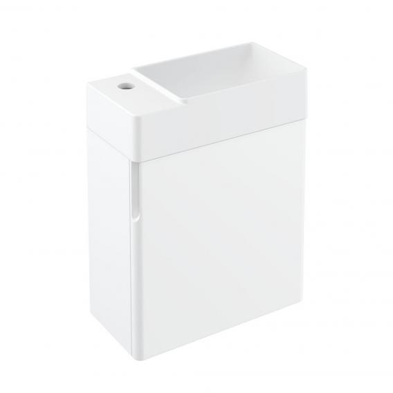 Cosmic fancy Waschtisch mit Unterschrank mit 1 Tür weiß matt, weiß matt