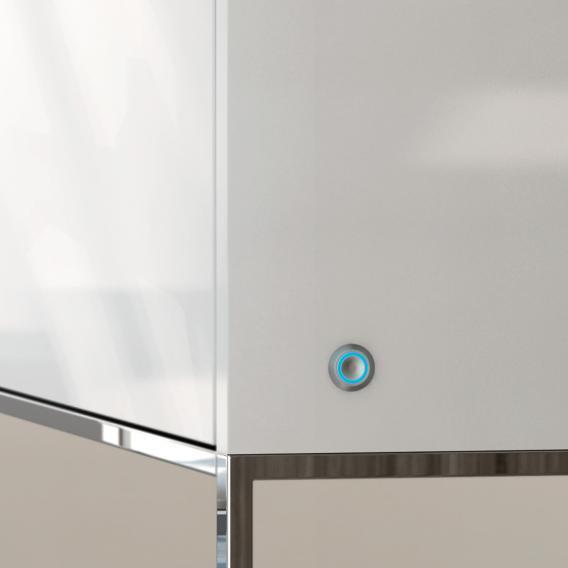 Cosmic The Grid LED-Waschtischunterschrank mit 1 Auszug Front weiß matt / Korpus weiß matt, mit Soundsystem