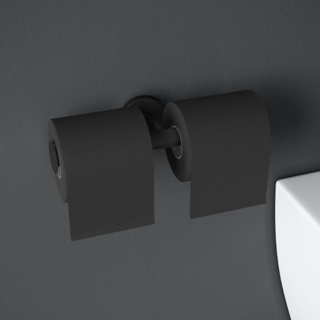 Cosmic Architect S+ Doppel-Papierrollenhalter schwarz matt