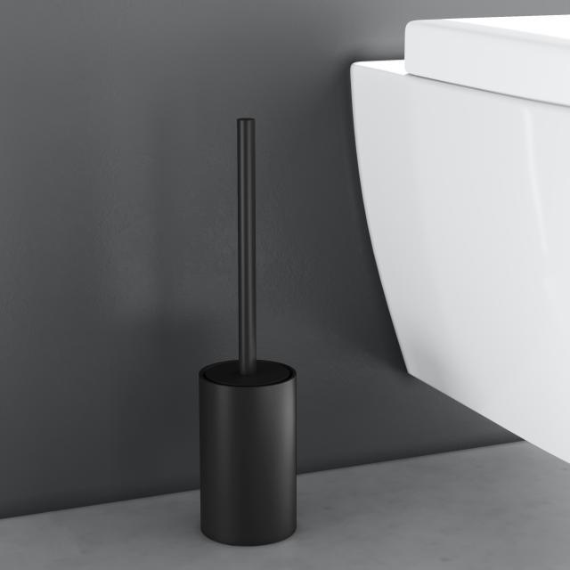 Cosmic Architect S+ Toilettenbürstengarnitur, freistehend schwarz matt