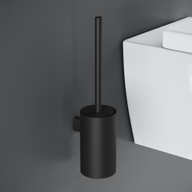 Cosmic Architect S+ Toilettenbürstengarnitur, Wandmontage schwarz matt