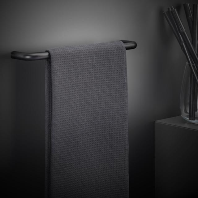 Cosmic Black & White Handtuchhalter schwarz matt