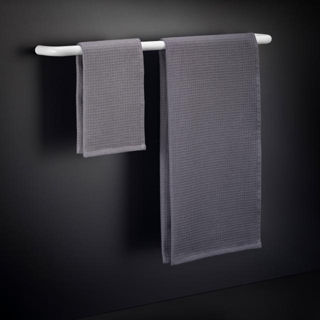 Cosmic Black & White Handtuchhalter weiß matt