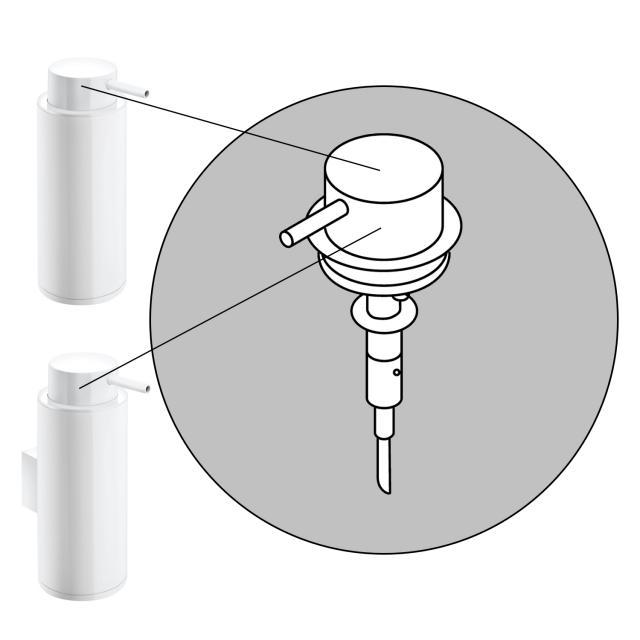 Cosmic Black & White Pumpenkopf für Seifenspender weiß