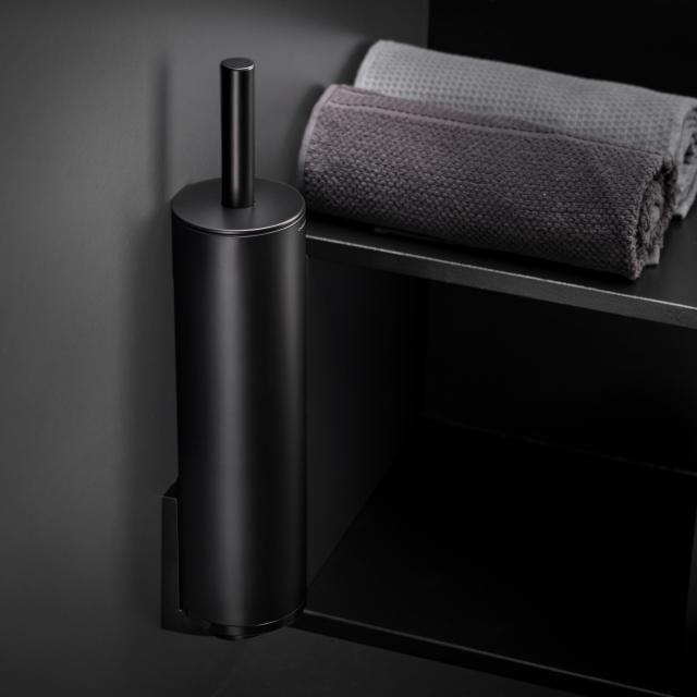 Cosmic Black & White Toilettenbürstengarnitur schwarz matt