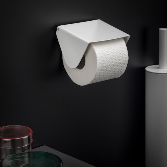 Cosmic Black & White Toilettenpapierrollenhalter weiß matt