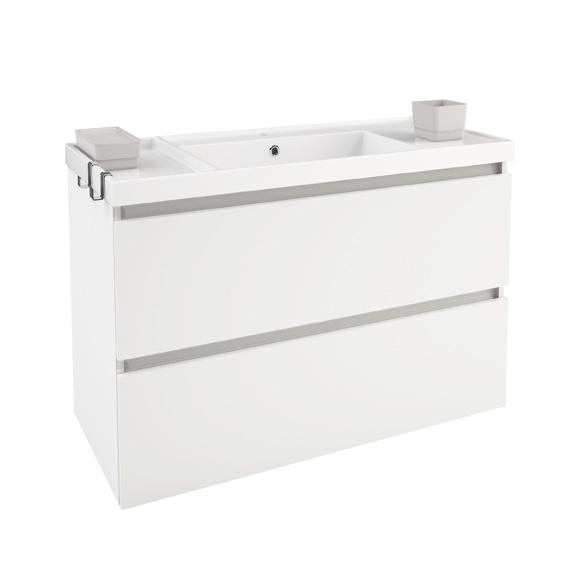 Cosmic b box waschbecken mit unterschrank mit 2 schubladen wei matt b05011001157 reuter for Unterschrank mit schubladen