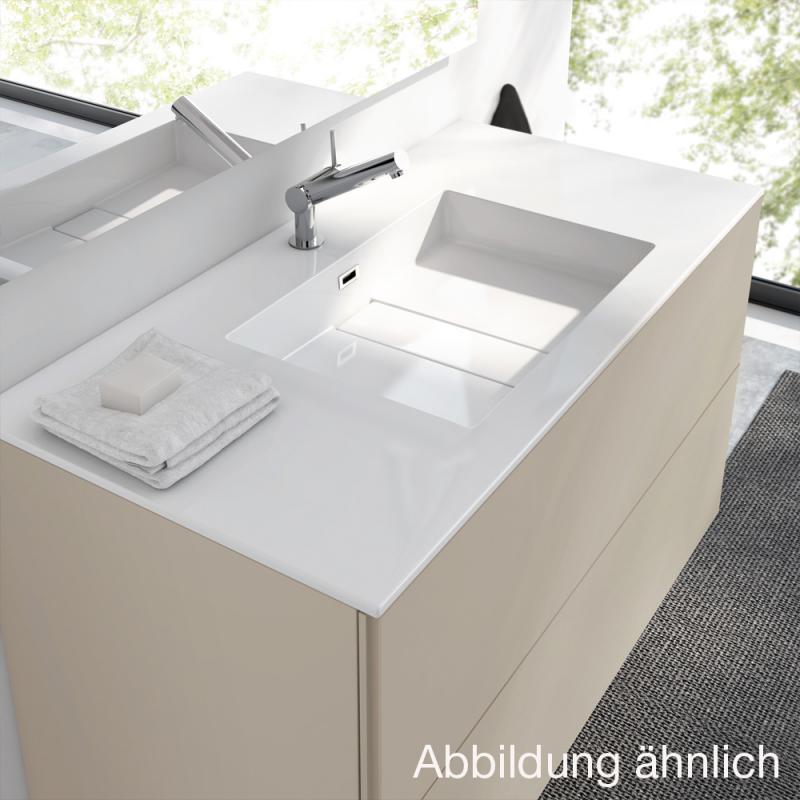 Waschbecken mit unterschrank weiß  Cosmic block evo Waschbecken mit Unterschrank mit 2 Schubladen ...