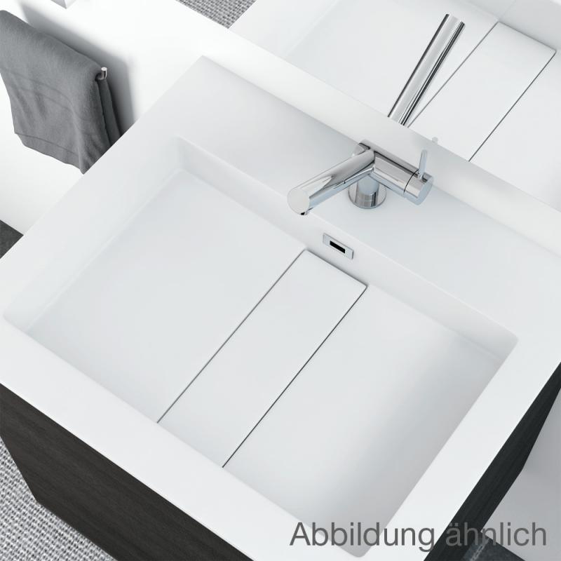 cosmic block evo waschtisch mit waschtischunterschrank mit 2 ausz gen wei matt wei gl nzend. Black Bedroom Furniture Sets. Home Design Ideas