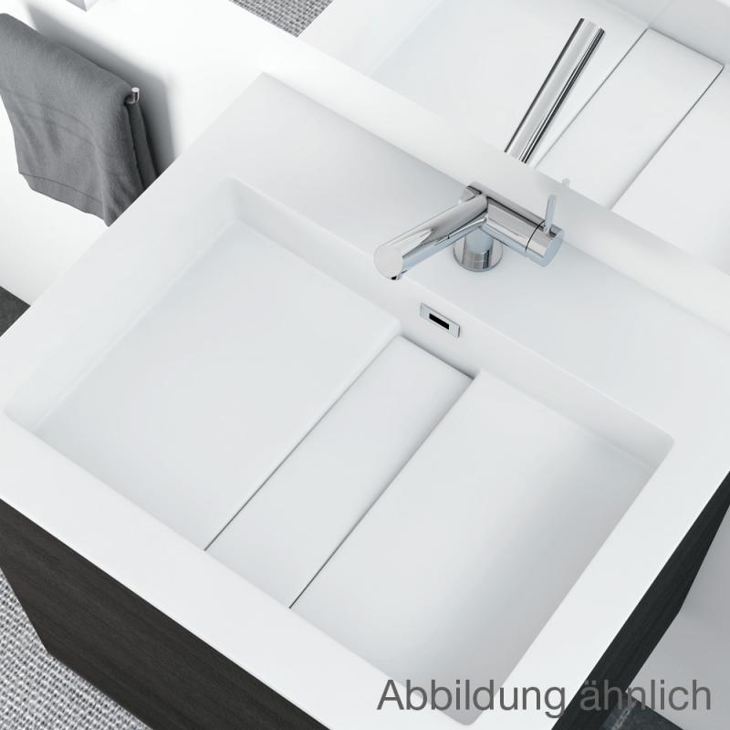cosmic block evo waschtisch mit waschtischunterschrank mit 2 ausz gen wei matt amethystgrau. Black Bedroom Furniture Sets. Home Design Ideas