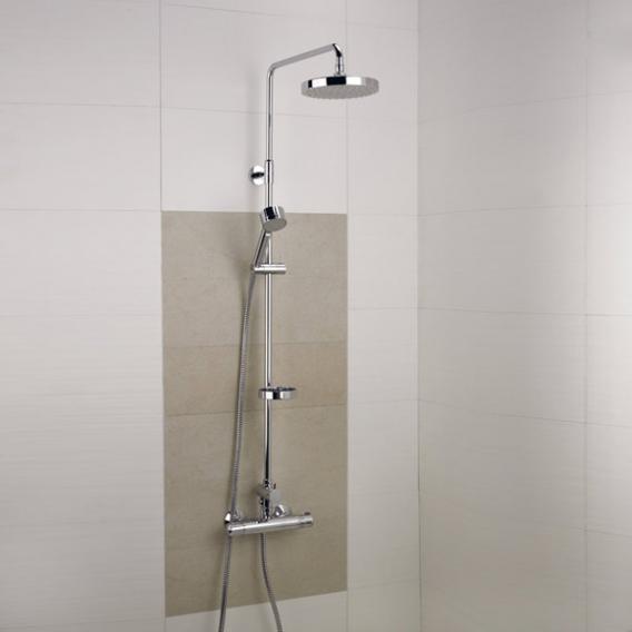 Damixa Akita Thermostat Duschsystem mit Metallbrauseschlauch