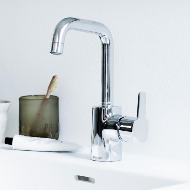Damixa Pine Einhebel-Waschtischarmatur Cold-Start, mit J-Auslauf