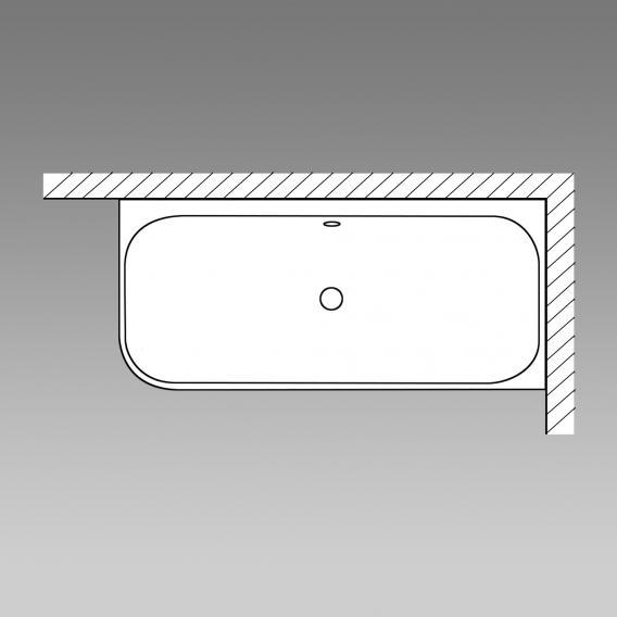 Mauersberger aspera Eck-Badewanne, mit Schürze weiß mit Schürze