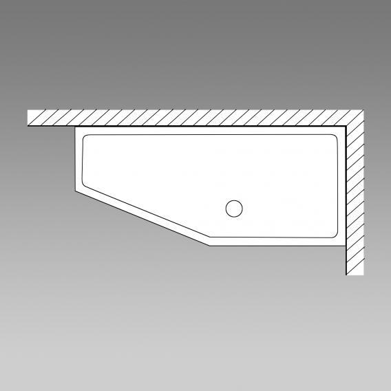 PREMIUM 100 Raumspar-Badewanne Länge: 170 cm, Breite: 75 cm