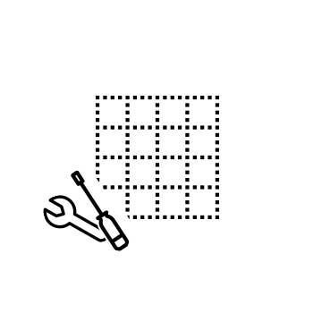 Koralle Montage für Eckeinbau, Viertelkreis, Fünfeck