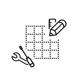 Sprinz Aufmaß und Montage Eckeinstieg, Viertelkreis, Fünfeck