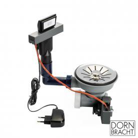 Dornbracht Edelstahl poliert Ab- und Überlaufgarnitur, elektrisch