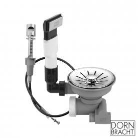 Dornbracht Edelstahl poliert Ab- und Überlaufgarnitur mit Zugknopf
