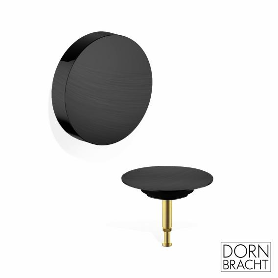DOVB Wannenauslauf mit Ab- und Überlaufgarnitur Fertigset schwarz matt