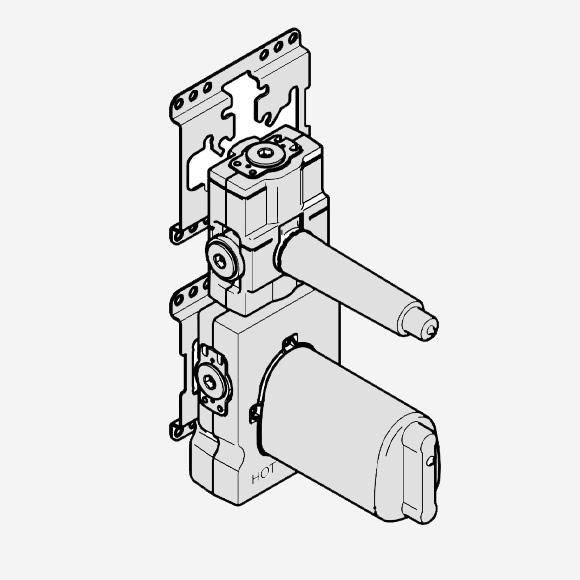 """Dornbracht xTOOL Unterputz-Thermostatmodul mit 1 Ventil 3/4"""""""