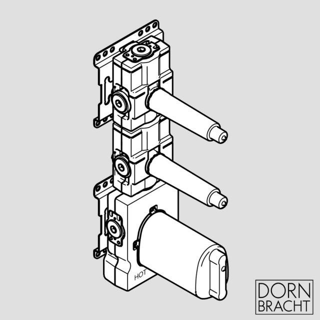 """Dornbracht xTOOL Unterputz-Thermostatmodul mit 2 Ventilen 3/4"""""""