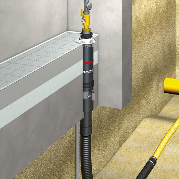 DOYMA Quadro-Secura E-BP Gas Einsparten Hauseinführung OHNE KELLER, 3 m Gas DN 25, L: 3 m 285809000093
