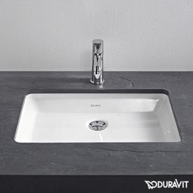 Duravit 2nd Floor Unterbauwaschtisch weiß, mit WonderGliss