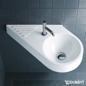 Duravit Architec Handwaschbecken, diagonal weiß, mit WonderGliss, mit 1 Hahnloch