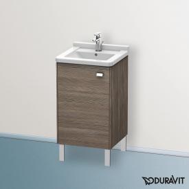 Duravit Brioso Handwaschbeckenunterschrank mit 1 Tür Front pine terra/Korpus pine terra, Griff chrom