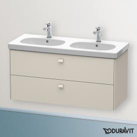 Duravit Brioso Waschtischunterschrank mit 2 Auszügen Front taupe matt/Korpus taupe matt, Griff taupe matt