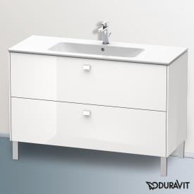 Duravit Brioso Waschtischunterschrank mit 2 Auszügen Front weiß hochglanz/Korpus weiß hochglanz, Griff weiß hochglanz