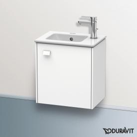 Duravit Brioso Waschtischunterschrank mit 1 Tür Front weiß matt/Korpus weiß matt, Griff weiß matt