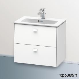 Duravit Brioso Waschtischunterschrank mit 2 Auszügen Front weiß matt/Korpus weiß matt, Griff weiß matt