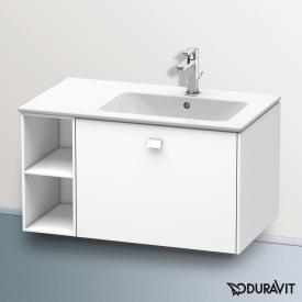 Duravit Brioso Waschtischunterschrank mit 1 Auszug und 1 Regalelement Front weiß matt/Korpus weiß matt, Griff weiß matt