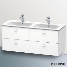 Duravit Brioso Waschtischunterschrank für Doppelwaschtisch mit 4 Auszügen Front weiß matt/Korpus weiß matt, Griff weiß matt