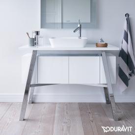 Duravit Cape Cod Waschtischunterschrank mit integriertem Unterschrank für Aufsatzwaschtisch weiß hochglanz