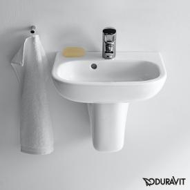 Duravit D-Code Handwaschbecken weiß, mit 1 Hahnloch, mit Überlauf