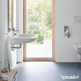 Duravit D-Code Waschtisch Vital weiß, mit 1 Hahnloch,  mit Überlauf