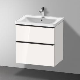 Duravit D-Neo Waschtisch mit Waschtischunterschrank mit 2 Auszügen Front weiß hochglanz / Korpus weiß hochglanz, WT weiß, mit WonderGliss, mit 1 Hahnloch