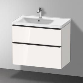 Duravit D-Neo Waschtischunterschrank mit 2 Auszügen Front weiß hochglanz / Korpus weiß hochglanz