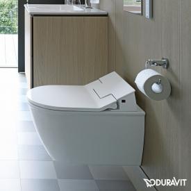 Duravit Darling New Wand-Tiefspül-WC mit NEUEM SensoWash® Slim WC-Sitz, Set weiß mit WonderGliss