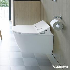 Duravit Darling New Wand-Tiefspül-WC Rimless mit NEUEM SensoWash® Slim WC-Sitz, Set weiß mit HygieneGlaze