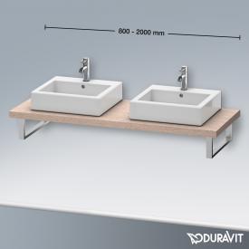 Duravit Delos Konsole für 2 Aufsatz-/Einbauwaschtische eiche kaschmir