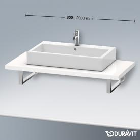 Duravit Delos Konsole für 1 Aufsatz-/Einbauwaschtisch weiß hochglanz